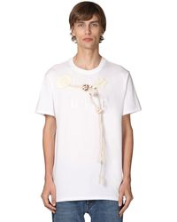 Loewe T-shirt En Jersey De Coton Avec Logo Brodé - Blanc