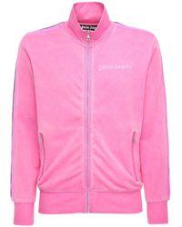 Palm Angels Trainingsjacke Aus Technojersey - Pink
