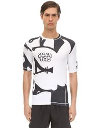 "OAKLEY X JEFF STAPLE T-shirt ""staple 1975 Rash Guard"" In Cotone - Multicolore"