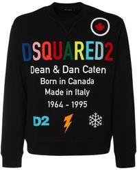 DSquared² Rainbow ジャージースウェットシャツ - ブラック