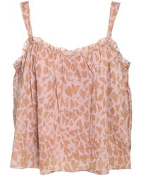 Love Stories Jam Heart Cotton Camisole Top - Pink