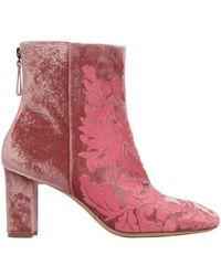 Alexandre Birman - 70mm Regina Floral Velvet Boots - Lyst