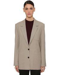 Nina Ricci Check Single Breast Jacket - Natural