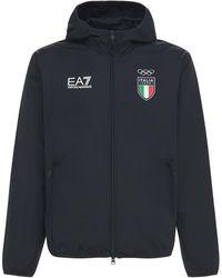 """EA7 Regenjacke """"italia Olypmic Team"""" - Blau"""