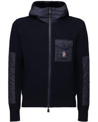 3 MONCLER GRENOBLE ウールトリコットセーター - ブルー