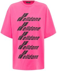 we11done Camiseta De Jersey De Algodón Con Logo - Rosa