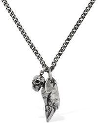 Alexander McQueen Collar De Cadena Doble Con Colgantes - Metálico