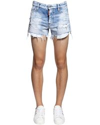 "DSquared² 28cm Shorts Aus Denim ""sexy 70s Rainbow"" - Blau"