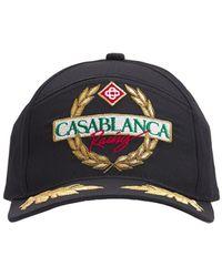 CASABLANCA コットンツイルキャップ - ブラック