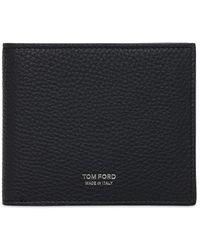 Tom Ford T Line Classic レザーウォレット - ブルー