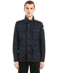 """Moncler Giacca """"cristian"""" In Nylon - Blue"""