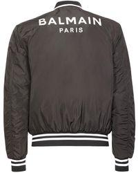 Balmain Куртка-бомбер Из Нейлона - Черный