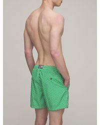 Mc2 Saint Barth Print Ashly Micro Tech Swim Short - Green