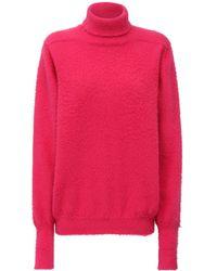 Maison Margiela アンゴラブレンドニットセーター - ピンク