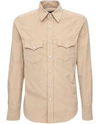 Tom Ford Рубашка Из Хлопкового Вельвета - Естественный