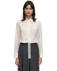 Stella McCartney Рубашка Из Атласа С Вышивкой - Белый