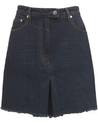 Peter Do Tailored Cotton Denim Shorts - Blue