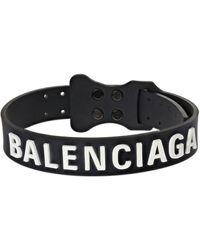Balenciaga ラバータグチョーカー - ブラック