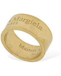 Maison Margiela Ring Mit Umgedrehtem Logo - Mettallic