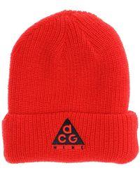 """Nike Bonnet En Acrylique Et Laine """"Nsw Acg"""" - Rouge"""