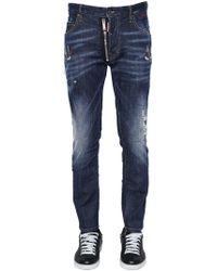 DSquared² - 16cm Skater Tattoo Birds Denim Jeans - Lyst