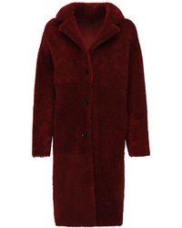 Belstaff Ruby Fur Coat - Red