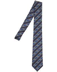 Gucci - 7cm Gg Interlocking Striped Silk Tie - Lyst