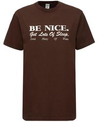 "Sporty & Rich Camiseta ""be Nice"" - Marrón"