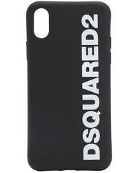DSquared² Iphone X-cover Mit Logodruck - Schwarz