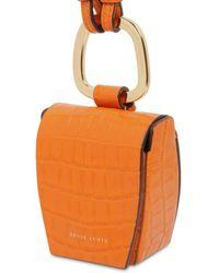 Danse Lente Tasche Aus Leder Mit Krokoprägung - Orange