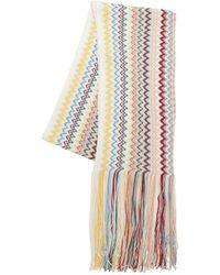 Missoni Striped Wool Blend Knit Scarf - Multicolour