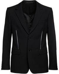 Alexander McQueen Japanese ウールギャバジンジャケット - ブラック