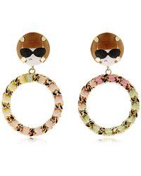 Bijoux De Famille - Anna Chain Hoop Earrings - Lyst