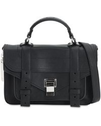 Proenza Schouler Ps1 Tiny Leather Bag - Black