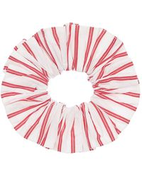 Ganni Scrunchie In Cotone Organico - Rosso