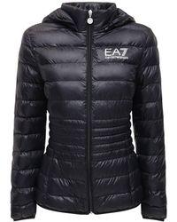 EA7 ライトエコダウンジャケット - ブラック
