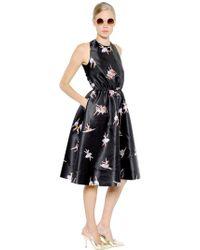 Rochas - Open Back Ballerina Print Duchesse Dress - Lyst
