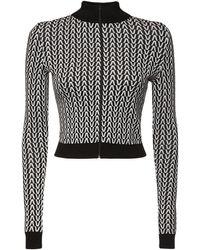 Valentino ウールニットスウェットシャツ - ブラック