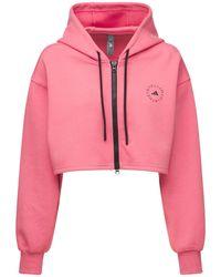 "adidas By Stella McCartney Kurzer Hoodie ""asmc Sc"" - Pink"