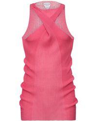 Bottega Veneta Свитер Из Хлопкового И Шёлкового Трикотажа - Розовый