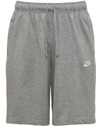 "Nike Sweatshorts Aus Baumwollfleece ""nsw Club"" - Grau"