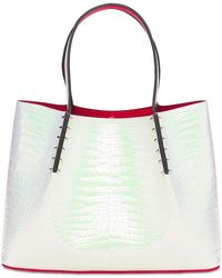 Christian Louboutin Cabarock Small Leather Tote Bag - White