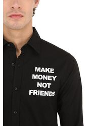 MAKE MONEY NOT FRIENDS - コットン ロゴプリントシャツ - Lyst