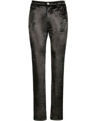 Balenciaga Hose Aus Stretch-samt Mit 5 Taschen - Schwarz