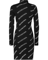Balenciaga Трикотажное Платье С Принтом - Черный