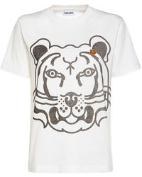KENZO Tiger コットンtシャツ - ホワイト