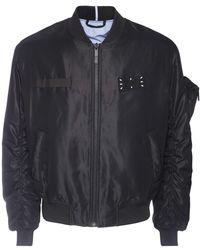 McQ Куртка-бомбер Из Переработанного Нейлона - Черный