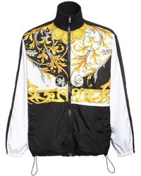 Versace Trainingsjacke Aus Nylon Mit Druck - Mehrfarbig