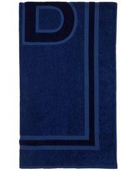 Balenciaga Пляжное Полотенце Из Хлопка - Синий