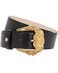 Versace 40mm Leather Belt - Black